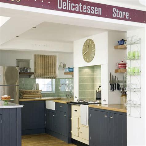 Blue Country Kitchen  Country Kitchens Housetohomecouk
