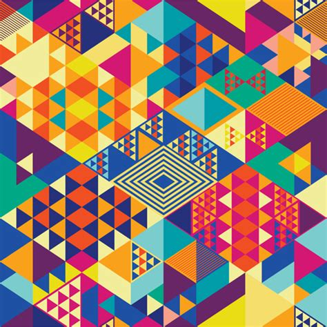 Abstract Colorful Geometric Shapes Background by Colorful Shapes Abstract Background 02 Free