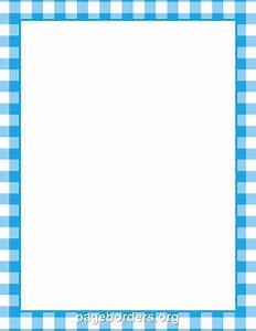 Printable blue gingham border. Use the border in Microsoft ...