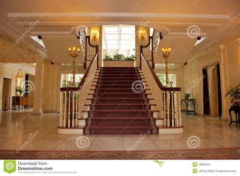foyer  luxurious house stock photography image