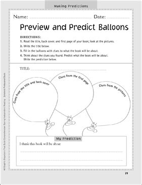 preview  predict balloons independent reading graphic