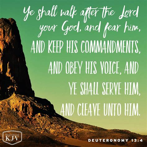 your voice kjv verse of the day deuteronomy 13 4
