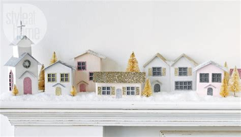 Christmas crafts: Vintage paper houses