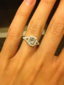 2 carat cushion cut halo engagement rings best 25 cushion cut halo ideas on halo engagement rings princess cut wedding rings