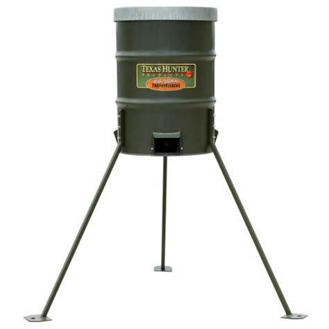timed protein feeders 300 lb protein barrel deer feeder by
