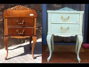 RESTAURACION DE UN MUEBLE CON CARCOMA Y PINTURA EFECTO TIZA CHALK PAINT YouTube