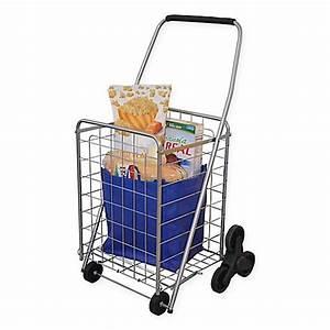 3 wheel stair climbing folding cart bed bath beyond for Bathroom cart on wheels