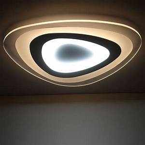 Moderne Deckenleuchten Led : remote control living room bedroom modern led ceiling lights luminarias para sala dimming led ~ Frokenaadalensverden.com Haus und Dekorationen
