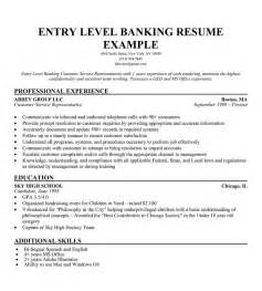 resume for customer service representative in bank professional entry level resume template writing resume sle writing resume sle