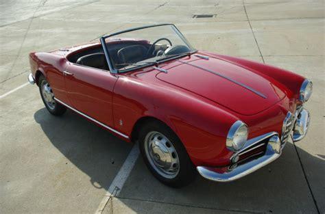 Classic Alfa Romeo For Sale by 1959 Alfa Romeo Giulietta Spider Classic Italian Cars