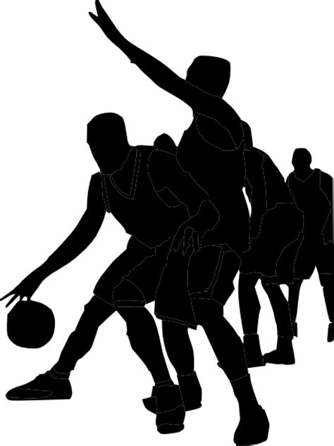 boys basketball clipart black and white basketball player clipart clipart best