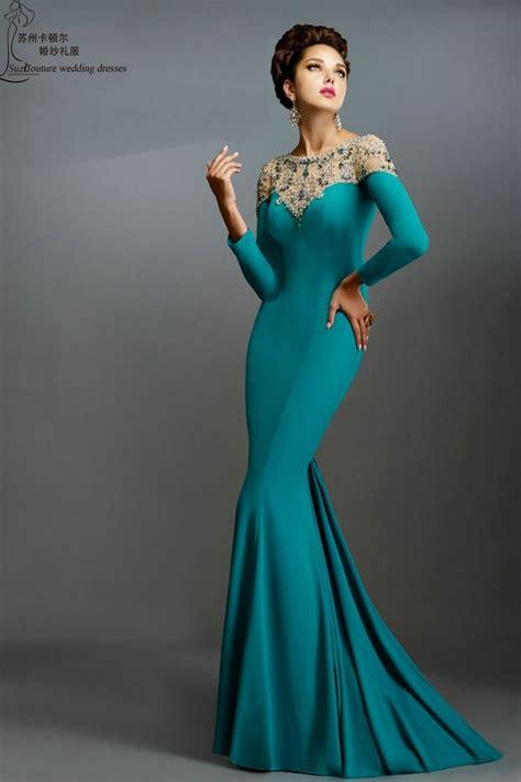 Long Sleeve Prom Dresses 2016 Pm1374 Elegant Long Mermaid