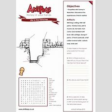 Free Worksheet! Life In The Trenches Objectives Empathise With Tommy In World War I Reconstruct