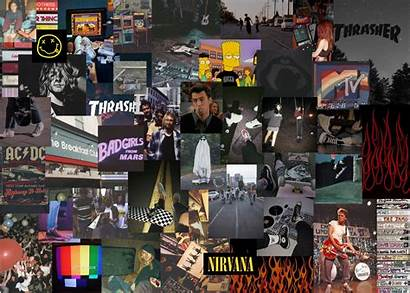 Aesthetic Skater Laptop Desktop Collage Wallpapers Background
