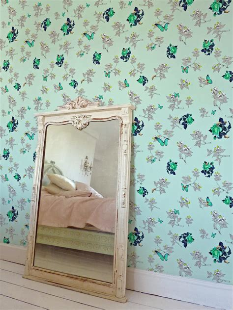 mint green bedroom decor vintage wallpaper ideas hgtv 16204 | 1400970475003