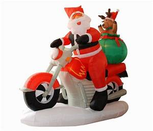 Peanuts 4 Ft Lighted Snoopy Christmas Inflatable Harley Davidson Motorcycle Christmas Ornaments