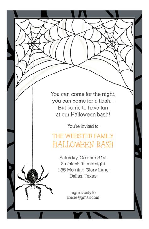 housewarming gifts for spider invitation invitation ideas