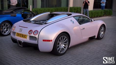 Pink Bugatti Price by Pink Bugatti Veyron Arrival Convoy And Drag Races