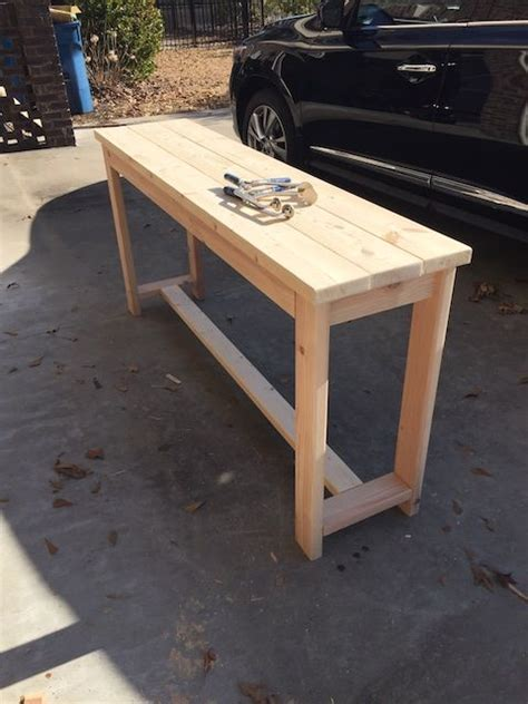 diy  brace console table  plans entryway ideas