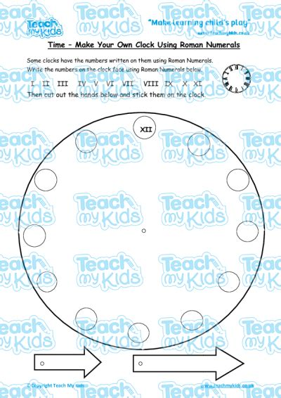 roman numerals clock worksheet roman numerals worksheet