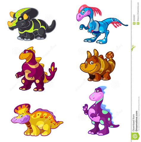 3d models below are suitable not only for printing but also for any computer graphics. Cute Cartoon Dino Set Royalty Free Stock Photography ...