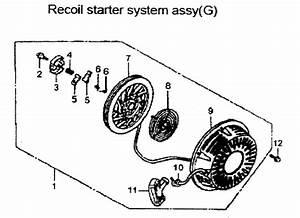 Recoil Starter Diagram  U0026 Parts List For Model Apg3560 All