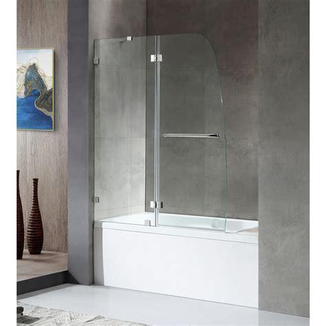 frameless shower doors tub anzzi herald series 48 in x 58 in frameless hinged tub