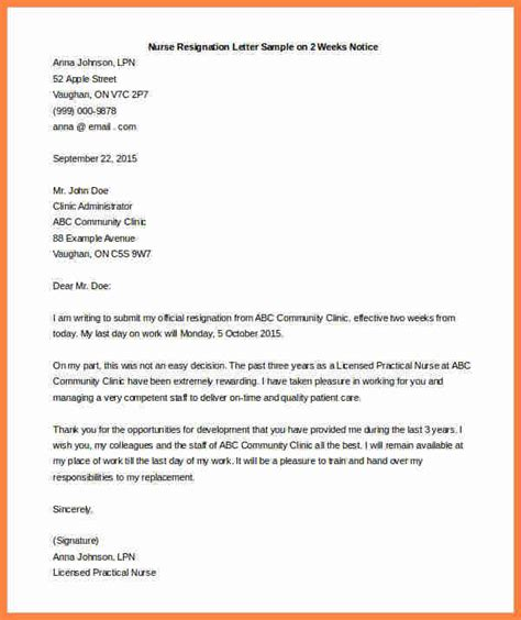 two weeks notice letter 3 exle of 2 week notice notice letter 23284