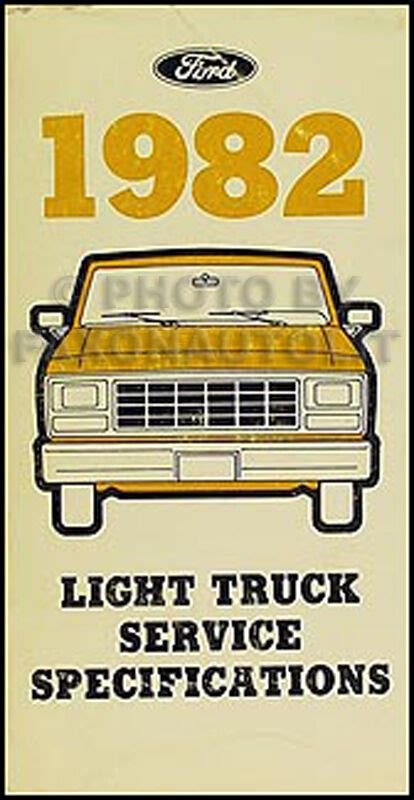 ford service specs manual econoline van