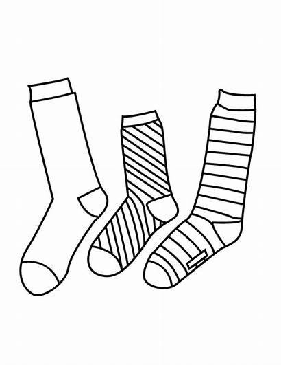 Socks Sock Coloring Pages Drawing Syndrome Shoes