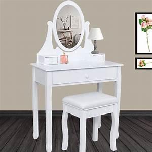 Coiffeuse Moderne Avec Miroir : coiffeuse blanche avec miroir pas cher id market ~ Farleysfitness.com Idées de Décoration
