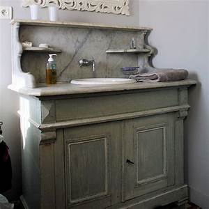 20 meubles vasque recup39 pour la salle de bains simple With meuble salle de bain dessus marbre