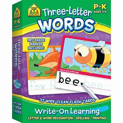 Flash Letter Cards Words Learning Write Three