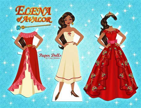 disney elena paperdoll  cory jensen paper dolls princess paper dolls