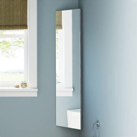 Mirror Corner Bathroom Cabinet by Zanex Bevelled Edge 1200mm Stainless Steel Mirror Bathroom