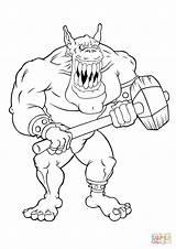 Coloring Coloriage Ogre Geant Mechant Dessin Gremlin Scary Trolls Giant Gigante Colorear Imprimer Robot Dibujos Kleurplaat Very James Gremlins Gizmo sketch template