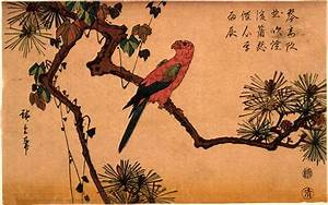 Bird on a Tree by Ando Hiroshige - ArtinthePicture.com