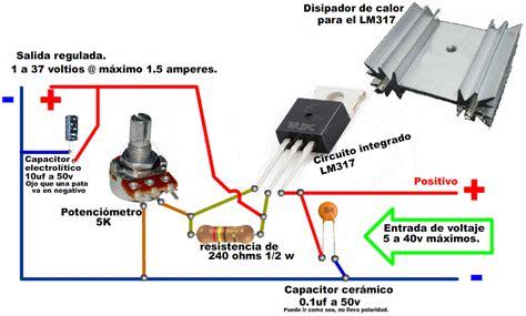 regulador de voltaje 1v a 37v con lm317 taringa