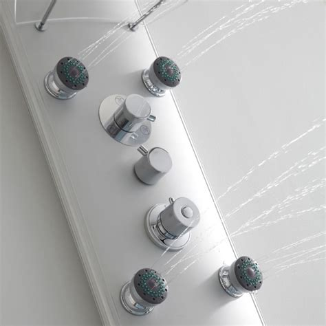 milano thermostatic shower panel column tower   body jets