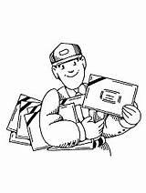Carrier Community Crafts Activities Preschool Letter Helpers Helper Postal Mail Ws Worker Service Postman Careers Mailman Career Theme sketch template