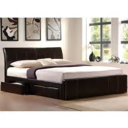 King Black Platform Bed