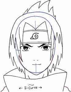 How to Draw Sasuke Uchiha from Naruto Step by Step Drawing ...