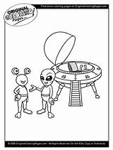 Coloring Pages Aliens Space sketch template