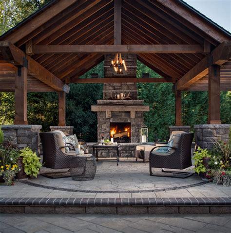Interesting Patio Design Ideas Fireplace Patio Design 204