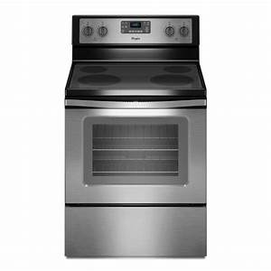Whirlpool 5 3 Cu  Ft  Electric Range With Self