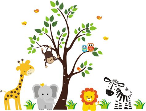 cartoon rainforest animals