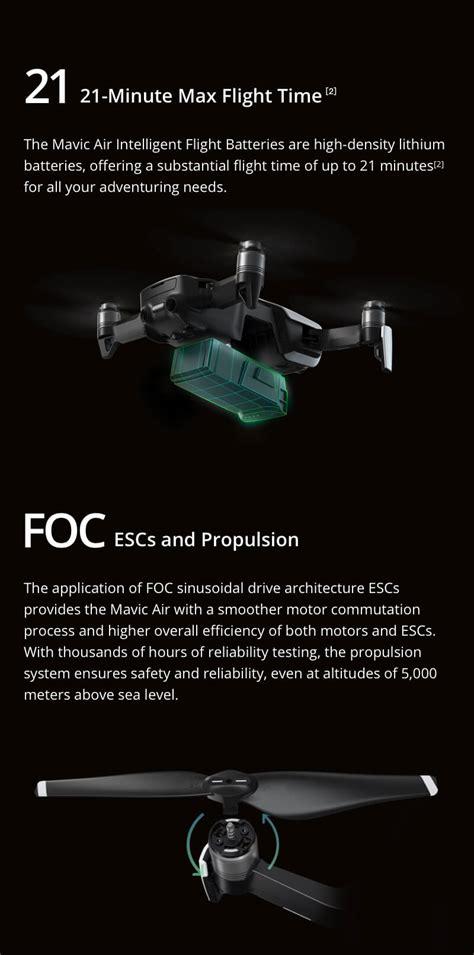 dji mavic air onyx black drone fly  combo  camera ebay