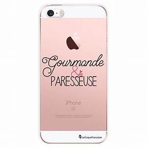 Coque Iphone 5 : coque transparente gourmande et paresseuse pour apple iphone 5 5s coquediscount ~ Teatrodelosmanantiales.com Idées de Décoration