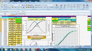 process capability yield and normal distribution analysis With capability analysis excel template