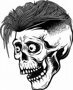Hipster Skull Isolated On White